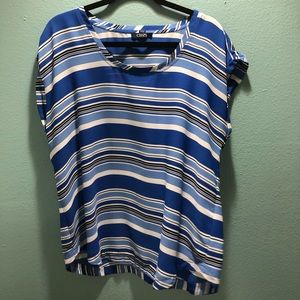 Chaps blue and white blouse